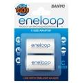 Sanyo Eneloop adapter R6-R14 AD-C-2BP